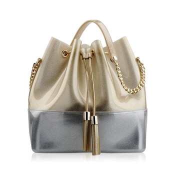 Grace K Handbag - Glitter Gold/Chrome