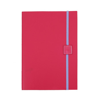 Recycled Leather Notebook Plain - Lipstick