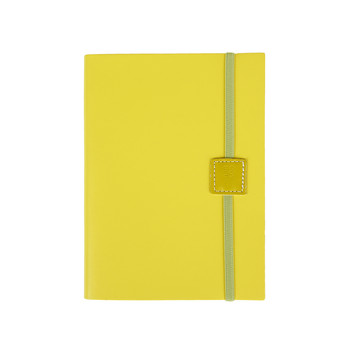 Recycled Leather Notebook Lined - Lemon