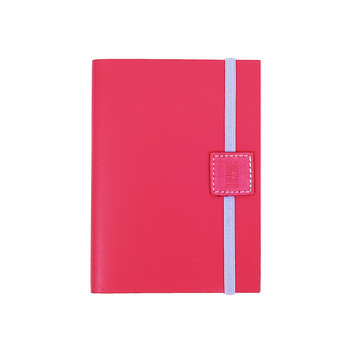 Recycled Leather Notebook Lined - Lipstick