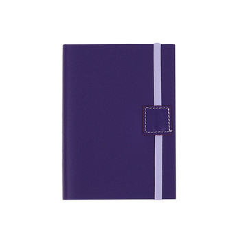 Recycled Leather Notebook Lined - Electric Blue