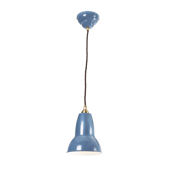 Original 1227 Brass Pendant Lamp - Dusty Blue