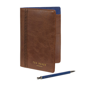Brogue Travel Wallet with Small Pen