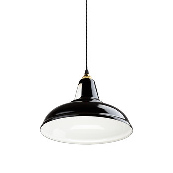 British Spun-Steel Factory Pendant - Black