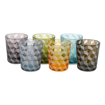Tumbler Blocks - Multicoloured - Set of 6