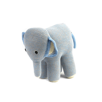 Crochet Mama Elephant - Blue Grey Mix