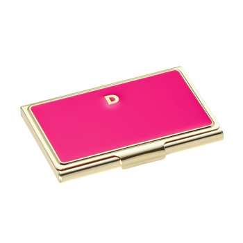 One in a Million Initial Business Card Holder - D (Pink)