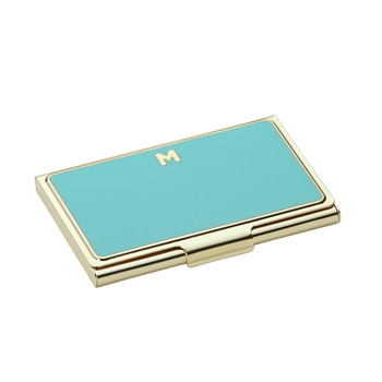One in a Million Initial Business Card Holder - M (Turquoise)