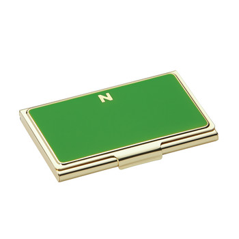 One in a Million Initial Business Card Holder - N (Green)