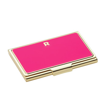 One in a Million Initial Business Card Holder - R (Pink)