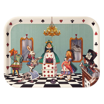 Louise Kirk - Alice in Wonderland Tray - Court of Hearts