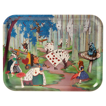 Louise Kirk - Alice in Wonderland Tray - Woods