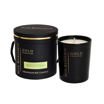 Gold Collection - Scented Candle in Gift Box - White Pear & Victoria Plum - 190g
