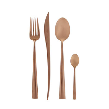Duna 24 Piece Flatware Set - Copper
