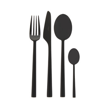 Rondo 24 Piece Cutlery Set - Black