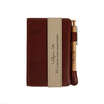 A6 Leather Notebook - Brown