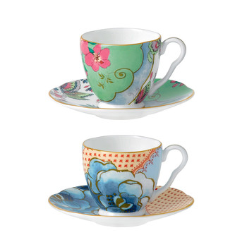 Butterfly Bloom Espresso Cup and Saucer - Set of 2