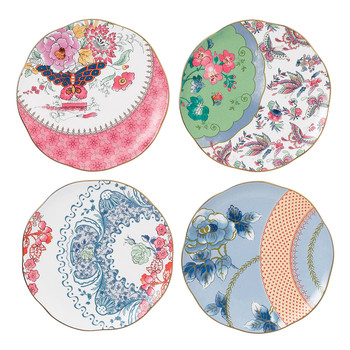 Butterfly Bloom Plate - Set of 4