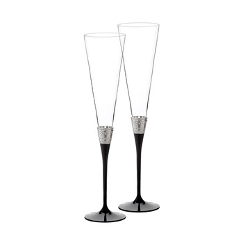 With Love Toasting Flute Noir - Set of 2