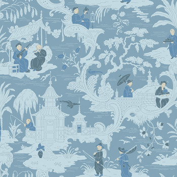 Chinese Toile Wallpaper - 100/8038