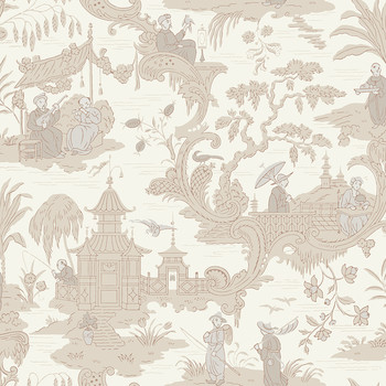 Chinese Toile Wallpaper - 100/8039