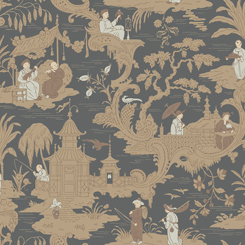 Chinese Toile Wallpaper - 100/8040