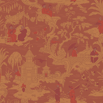 Chinese Toile Wallpaper - 100/8041