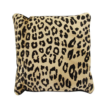 Panther Printed Cowhide Cushion - 45x45cm