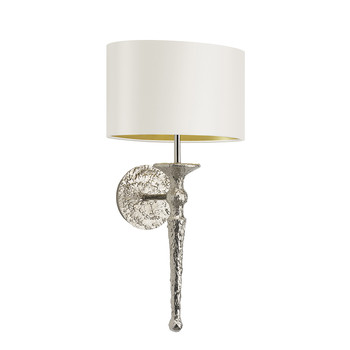 Olivia Wall Light - Nickel / Ivory