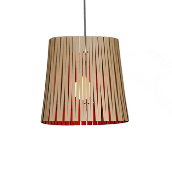 Kerf Light Ripley Pendant - Lava