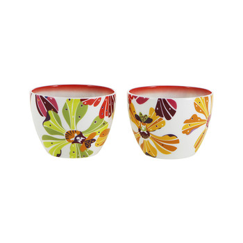 Flowers - Small Fruit Bowl - Set of 2