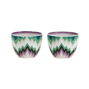 Zig Zag - Small Fruit Bowl - Set of 2