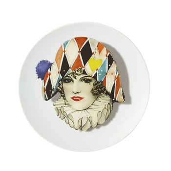 Love Who You Want - Assiette « Miss Arlequin»