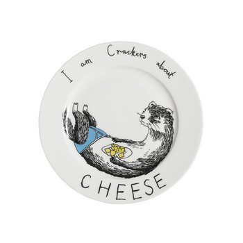 'I am crackers about Cheese' Side Plate