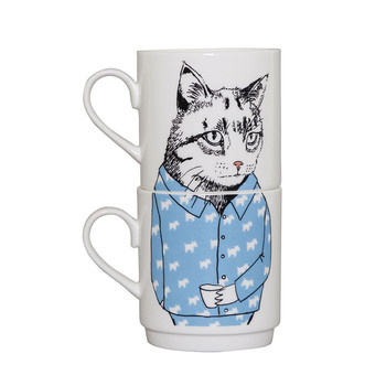 Cat Stacking Tea Mugs