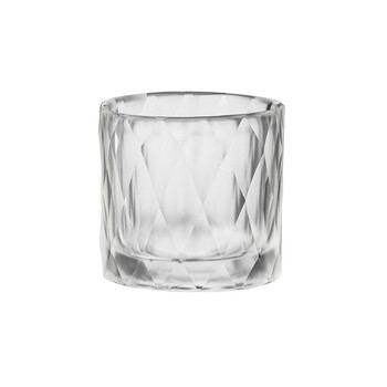 Photophore Verre Diamond Handcut - Transparent - 8x8cm