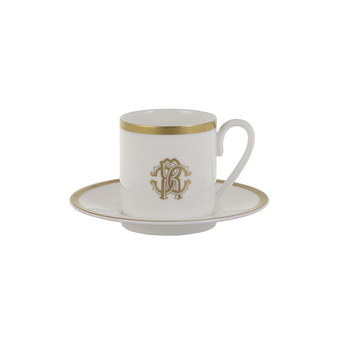 Silk Gold Coffee Cups & Saucers - Set of 6