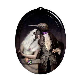 Galerie De Portraits - Oval Tray - The Lovebirds