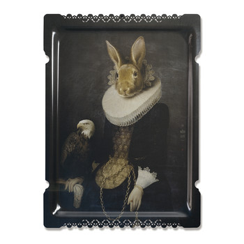 Galerie De Portraits - Large Rectangular Tray - Zhao