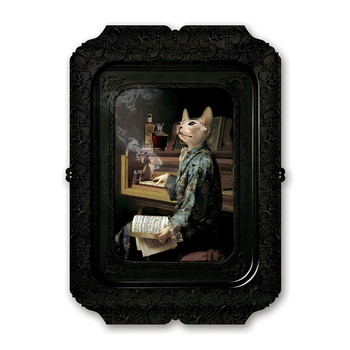 Galerie De Portraits - Antique Style Rectangular Tray - Lazy Victoire