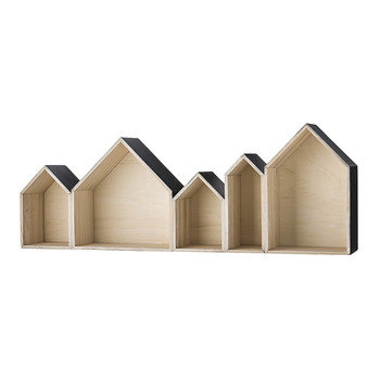 Display House - Wood/Black