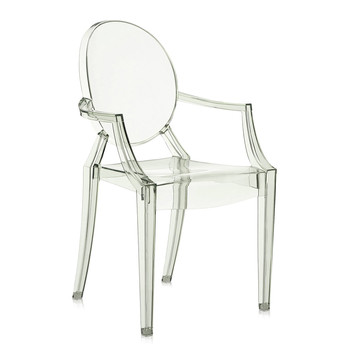 Louis Ghost Armchair - Crystal Green