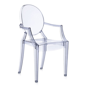 Louis Ghost Armchair - Ice Blue
