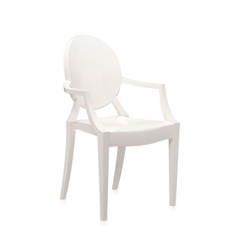 Loulou Ghost Children's Chair - Glossy White