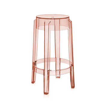 Charles Ghost Stool - Rose - 46cm