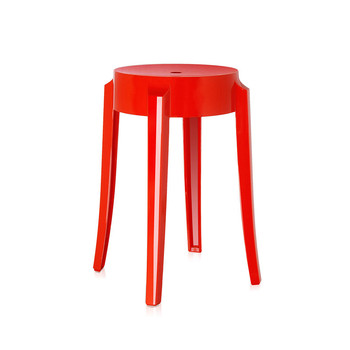Charles Ghost Stool - Kartell Red