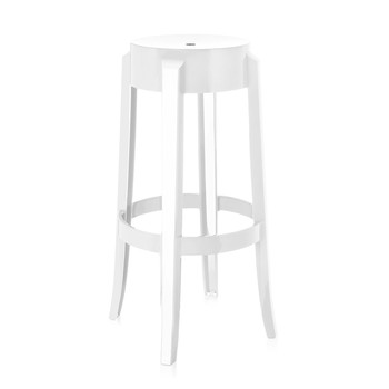 Charles Ghost Stool - Glossy White