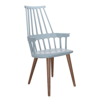 Comback Four Legs Chair - Gray Blue/Oak