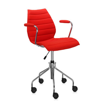 Maui Soft Swivel Armchair - Red