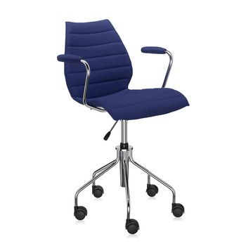 Maui Soft Swivel Armchair - Blue